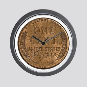 Lincoln Wheat Reverse Wall Clock